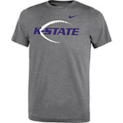 Nike Youth Kansas State Wildcats Grey Football Icon Legend T-Shirt