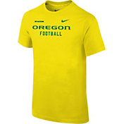 Nike Youth Oregon Ducks Yellow Football Sideline Facility T-Shirt