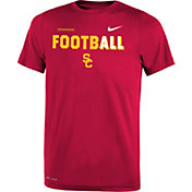 Nike Youth USC Trojans Cardinal FootbALL Sideline Legend T-Shirt