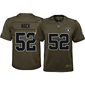 Nike Youth Home Limited Salute to Service Oakland Raiders Khalil Mack #52 Jersey