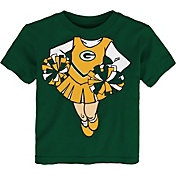 NFL Team Apparel Toddler Green Bay Packers Dream Cheer T-Shirt
