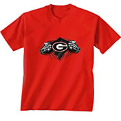 New World Graphics Youth Georgia Bulldogs Red Super T-Shirt