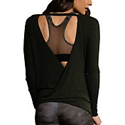 Onzie Women's Drapey V-Back Long Sleeve Top
