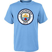 adidas Youth Manchester City Logo Blue T-Shirt
