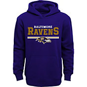 NFL Team Apparel Youth Baltimore Ravens MVP Purple Pullover Hoodie