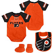 NHL Infant Philadelphia Flyers Little D-Man Orange/Black Onesie Set