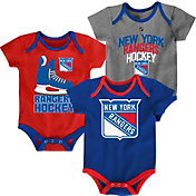NHL Infant New York Rangers Power Play Onesie Royal/Red/Grey 3-Pack