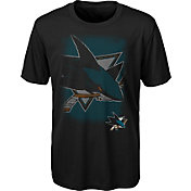 NHL Youth San Jose Sharks Logo Matrix Black T-Shirt