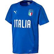 PUMA Youth Italy Blue Training T-Shirt