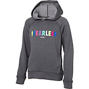 Reebok Girls' Performance Fleece #Fearless Graphic Hoodie