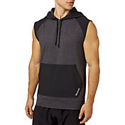 Reebok Men's 24/7 Jersey Woven Pieced Sleeveless Hoodie