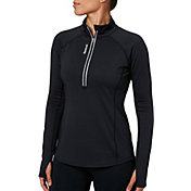 Reebok Women's Cold Weather Compression Solid Quarter Zip Long Sleeve Shirt