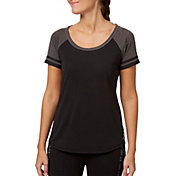 Reebok Women's Heather Baseball T-Shirt