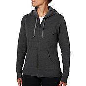Reebok Women's Core Cotton Fleece Heather Zip Up Hoodie
