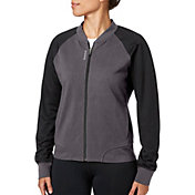 Reebok Women's Heather Stretch Cotton Bomber Jacket