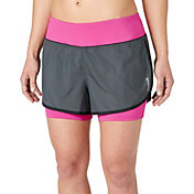 Reebok Women's Solid Performance Two-In-One Running Shorts