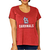 Soft As A Grape Women's St. Louis Cardinals Tri-Blend Crew T-Shirt