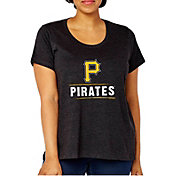 Soft As A Grape Women's Pittsburgh Pirates Tri-Blend Crew T-Shirt