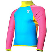 TYR Girls' Solid Long Sleeve Rash Guard