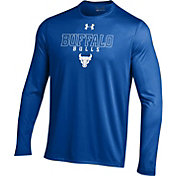 Under Armour Men's Buffalo Bulls Blue Long Sleeve Tech T-Shirt