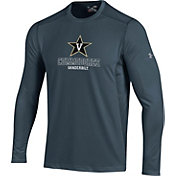 Under Armour Men's Vanderbilt Commodores Raid Performance Long Sleeve Grey T-Shirt