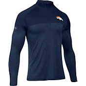 Under Armour NFL Combine Authentic Men's Denver Broncos Tech Novelty Navy Quarter-Zip Pullover