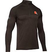 Under Armour NFL Combine Authentic Men's Cleveland Browns Tech Novelty Brown Quarter-Zip Pullover