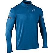 Under Armour NFL Combine Authentic Men's Detroit Lions Tech Novelty Blue Quarter-Zip Pullover
