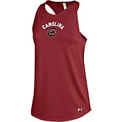Under Armour Women's South Carolina Gamecocks Garnet Mesh Tank