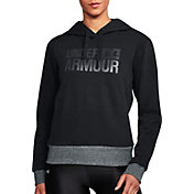 Under Armour Women's Threadborne Fleece Wordmark Logo Hoodie