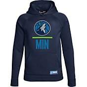 Under Armour Youth Minnesota Timberwolves Navy Lockup Fleece Hoodie