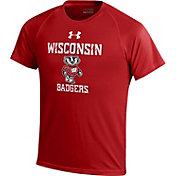 Under Armour Youth Wisconsin Badgers Red Tech T-Shirt