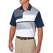 Walter Hagen Men's Geomagnetic Blocked Chest Print Golf Polo