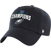 '47 Men's NFC Conference Champions Philadelphia Eagles Clean Up Black Adjustable Hat