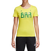 adidas Women's adidas Women's 2018 FIFA World Cup Brazil Crest Yellow T-Shirt