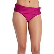 CALIA by Carrie Underwood Women's Solid Overlap Swim Bottom