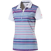 PUMA Women's Full Stripe Road Map Golf Polo