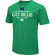 Colosseum Men's Michigan Wolverines Kelly Green St. Patrick's Day Dual Blend T-Shirt