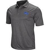 Colosseum Men's Middle Tennessee State Blue Raiders Grey Cut Shot Polo