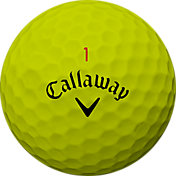 Callaway 2018 Chrome Soft Yellow Personalized Golf Balls