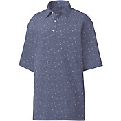 FootJoy Men's Stretch Pique Flower Print Golf Polo