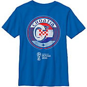 Fifth Sun Youth 2018 FIFA World Cup Croatia Contrast Round Blue T-Shirt