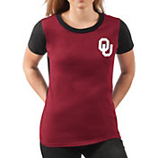G-III For Her Women's Oklahoma Sooners Crimson Yardline V-Neck T-Shirt
