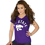 Touch by Alyssa Milano Women's Kansas State Wildcats COLOR Sparkle V-Neck T-Shirt