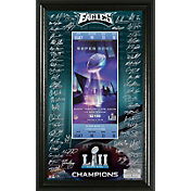 Highland Mint Super Bowl LII Champions Philadelphia Eagles Signature Ticket Frame