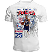 Levelwear Men's Philadelphia 76ers Ben Simmons Center Court White T-Shirt