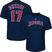 Majestic Men's Los Angeles Angels Shohei Ohtani #17 Navy T-Shirt