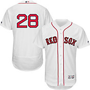 Majestic Men's Authentic Boston Red Sox J.D. Martinez #28 Flex Base Home White On-Field Jersey