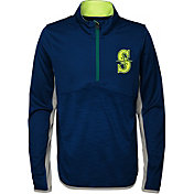 Majestic Youth Seattle Mariners Excellence Quarter-Zip Fleece