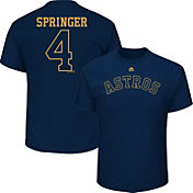 Majestic Youth Houston Astros George Springer #4 Championship Gold T-Shirt